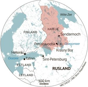 Map of Karelia, White Sea (NRC)