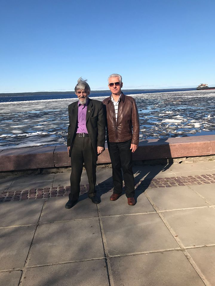 Dmitriev and Anufriev at Lake Onega in May 2018
