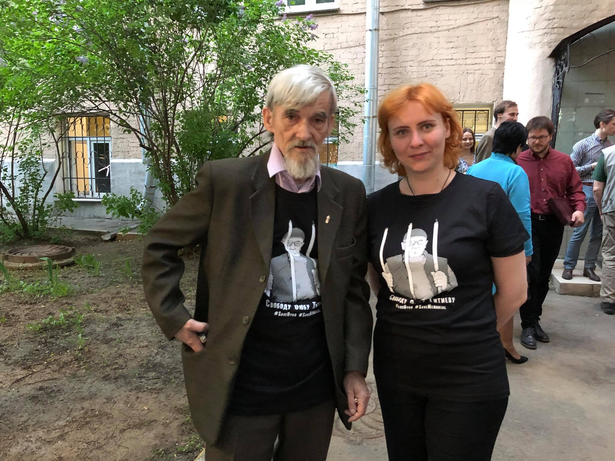 Dmitriev in Titiyev teeshirt after MHG award