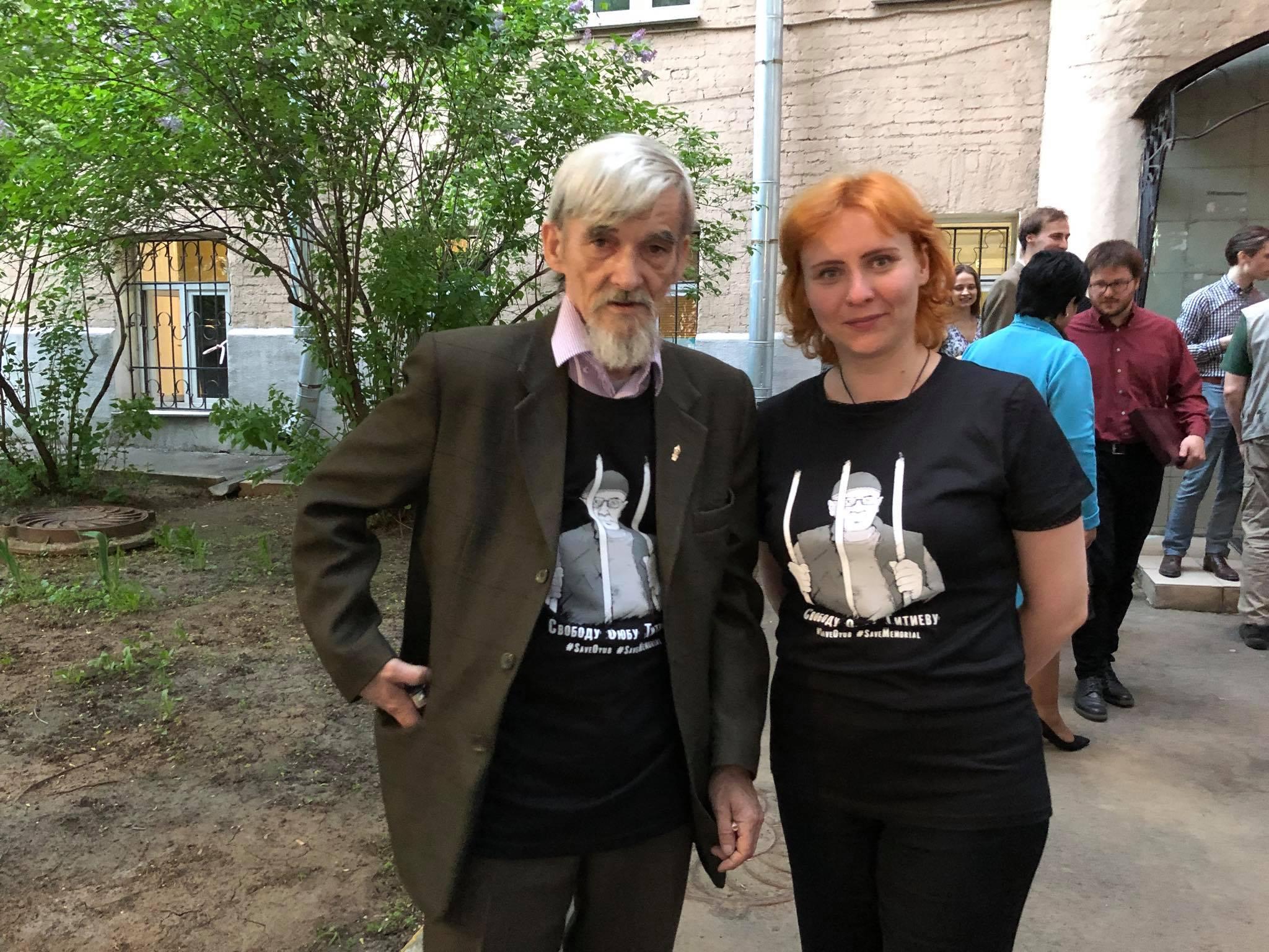 Dmitriev in Titiyev teeshirt after MHG award